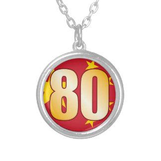 Oro de 80 CHINA Colgante Redondo