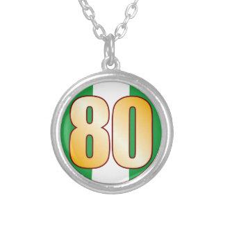 Oro de 80 NIGERIA Colgante Redondo