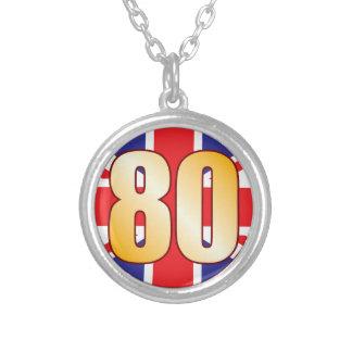 Oro de 80 Reino Unido Colgante Redondo