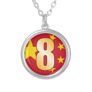 Oro de 8 CHINA Colgante Redondo