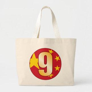 Oro de 9 CHINA Bolsa Tela Grande