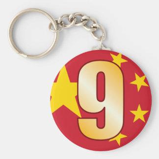 Oro de 9 CHINA Llavero Redondo Tipo Pin