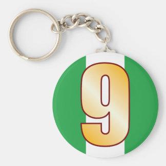 Oro de 9 NIGERIA Llavero Redondo Tipo Pin