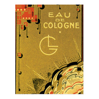 Oro de agua de colonia tarjeta postal
