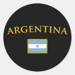 Oro de Argentina Pegatina Redonda