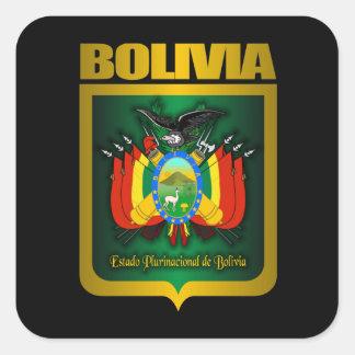 """""""Oro de Bolivia """" Pegatina Cuadrada"""