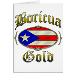Oro de Boricua Tarjeta De Felicitación