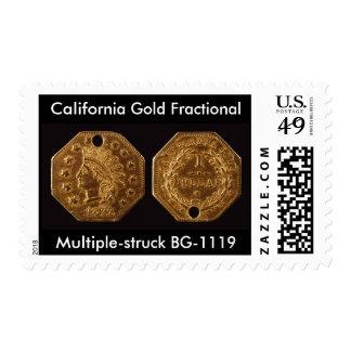 Oro de California fraccionario Estampillas