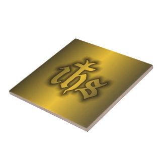 Oro de Christogram (EL SUYO) Azulejo Cuadrado Pequeño