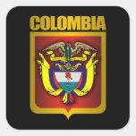 """""""Oro de Colombia """" Calcomanía Cuadrada"""