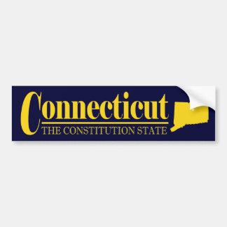 Oro de Connecticut Pegatina Para Auto