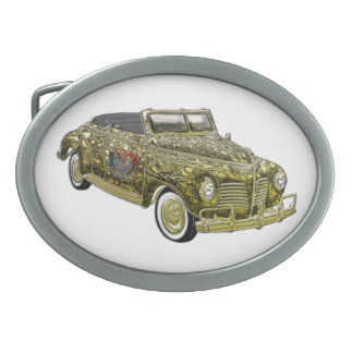 Oro de encargo de lujo 1940 de Plymouth P-10 del Hebilla Cinturón Oval