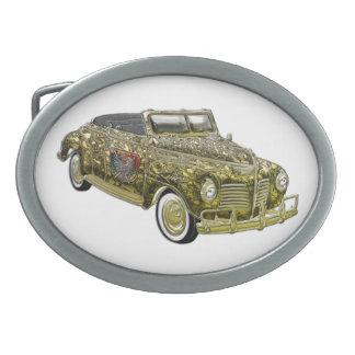 Oro de encargo de lujo 1940 de Plymouth P-10 del v Hebilla Cinturón Oval