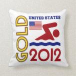 Oro de Estados Unidos que nada 2012 Cojin