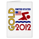 Oro de Estados Unidos que nada 2012 Felicitación
