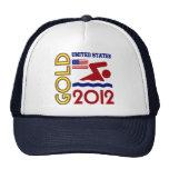Oro de Estados Unidos que nada 2012 Gorro De Camionero