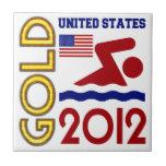 Oro de Estados Unidos que nada 2012 Tejas