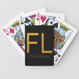 Oro de FL la Florida Barajas De Cartas