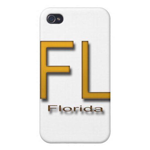 Oro de FL la Florida iPhone 4 Cárcasa