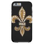 Oro de Flor New Orleans de la flor de lis Funda Resistente iPhone 6