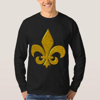 Oro de Fluer De Lis Hammered Camisas