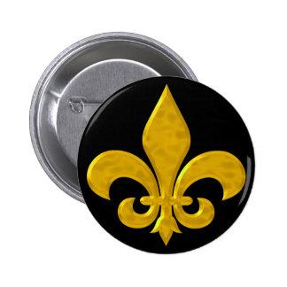 Oro de Fluer De Lis Hammered Pin