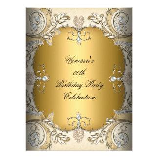 Oro de gran tamaño del café de la sepia de la fies invitación personalizada