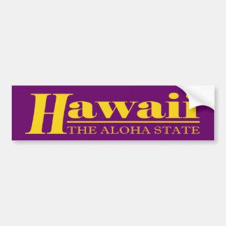 Oro de Hawaii Pegatina Para Auto