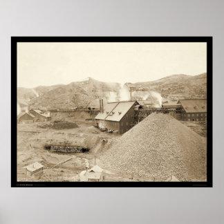 Oro de Homestake en la ciudad SD 1899 de la ventaj Impresiones