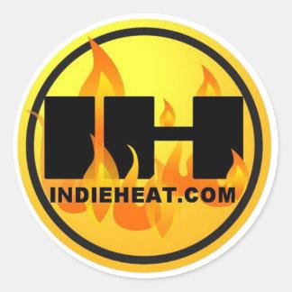 oro de Indieheat.com/pegatinas negros Pegatina Redonda