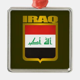 """Oro de Iraq "" Adorno Navideño Cuadrado De Metal"