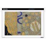 Oro de Klimt, modelo beige de Nouveau del arte neg Skins Para 43,2cm Portátiles