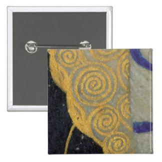 Oro de Klimt modelo beige de Nouveau del arte neg Pin