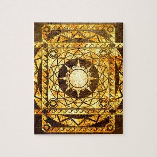 Oro de la Atlántida de los artes en el bronce Rompecabeza Con Fotos