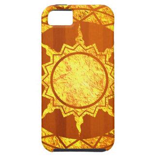 Oro de la Atlántida en la madera iPhone 5 Case-Mate Protectores