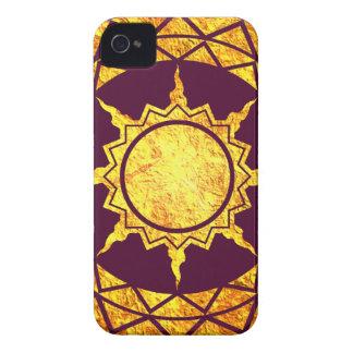 Oro de la Atlántida en púrpura Case-Mate iPhone 4 Coberturas