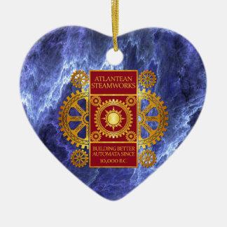 Oro de la Atlántida y rojo de Steamworks- en el má Adornos