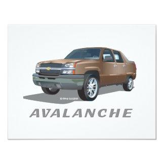 Oro de la avalancha de Chevrolet Invitación 10,8 X 13,9 Cm