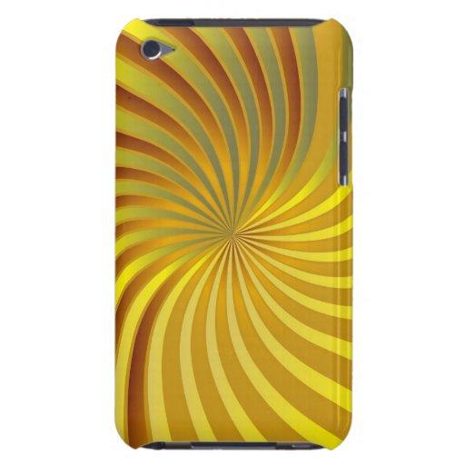oro de la casamata de iPod y vórtice espiral amari iPod Touch Protector