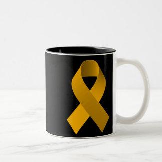 Oro de la cinta de la ayuda de la conciencia taza de dos tonos