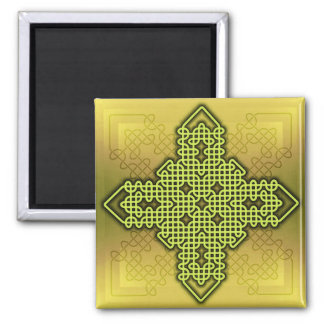 Oro de la cruz céltica 10 imanes para frigoríficos