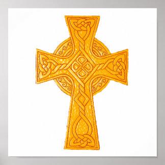 Oro de la cruz céltica 3 póster