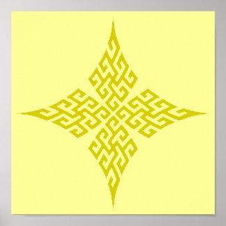Oro de la cruz céltica 5 póster