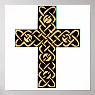Oro de la cruz céltica 7 póster