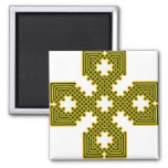 Oro de la cruz céltica 8 imán para frigorifico