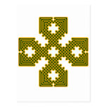 Oro de la cruz céltica 8 postal