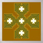 Oro de la cruz céltica 8 poster