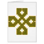 Oro de la cruz céltica 8 tarjetas