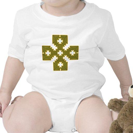 Oro de la cruz céltica 8 trajes de bebé
