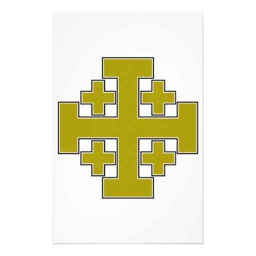 Oro de la cruz de Jerusalén Papeleria
